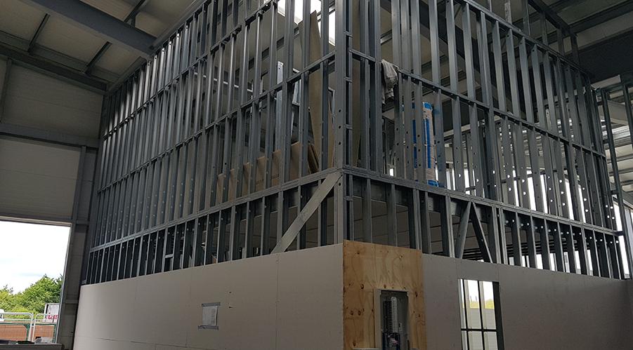 HadFrame warehouse walls